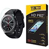 #7: Taslar(TM) Samsung Gear S3 Screen Protector Premium Arc Edge Tempered Glass Scratch Screen Protector Guard Card for Samsung Gear S3