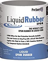 Liquid Rubber White Liquid EPDM Roof Coating 1 Gallon