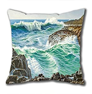 Illustration Painting Bon Voyage Standard Size Design Square Pillowcase/Cotton Pillowcase with Invisible Zipper in 40*40CM 16*16(527)-527022 by Square Pillowcase
