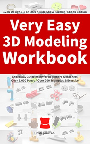 Very Easy 3D Modeling Workbook: Especially 3D printing for beginners & teachers PDF