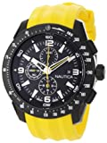 Nautica Men's NST 101 N18599G Yellow Resin Quartz Watch with Black Dial