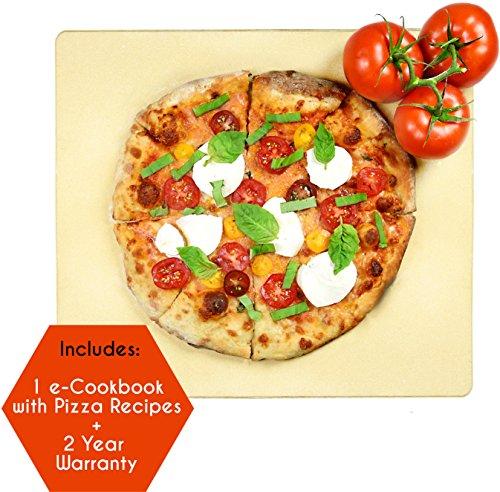 Crustina Rectangular Pizza Stone, 14 x 16-Inch (Pampered Rectangular Baking Stone compare prices)