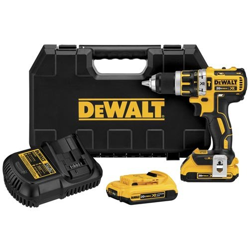 DEWALT DCD795D2 20V XR Lithium Ion Brushless Compact Hammer Drill