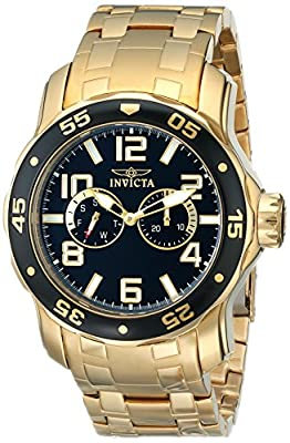 "Invicta Men's 17497SYB ""Pro Diver"" Gold-Tone Stainless Steel Watch"