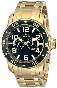 Invicta Men's 17497SYB Pro Diver Analog Display Japanese Quartz Gold Watch