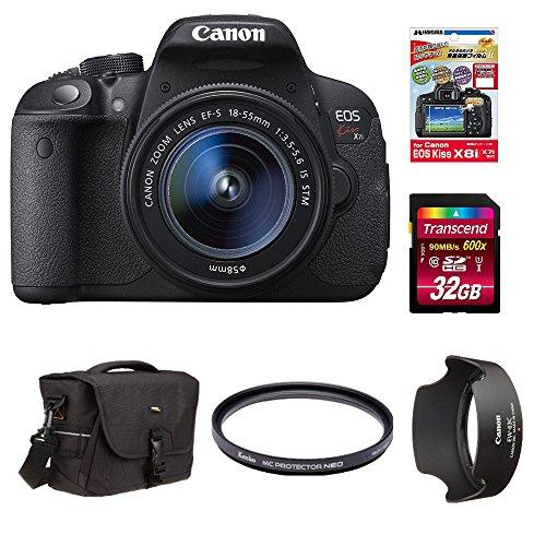 Canon デジタル一眼レフカメラ EOS Kiss X7i レンズキット EF-S18-55mm F3.5-5.6 IS STM付属 +Amazonベーシック デジタル一眼レフ用バッグ 他4点セット