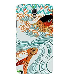 EPICCASE Gold Fish in Swirl Mobile Back Case Cover For Samsung Galaxy Note 3 Neo (Designer Case)