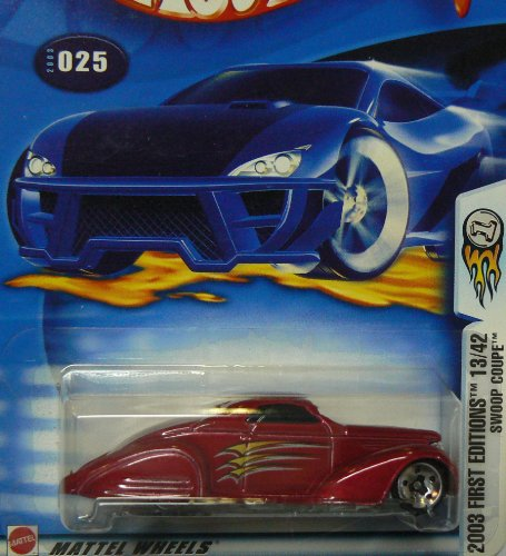 Mattel Hot Wheels 2003 First Editions 1:64 Scale Red Swoop Coupe Die Cast Car #025 - 1