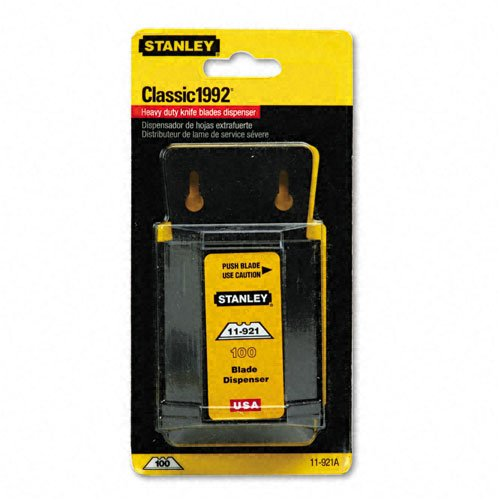 Stanley Wall Mount Blade Dispenser - Wall Mount Utility Knife Blade Dispenser W/Blades, 100/Pack