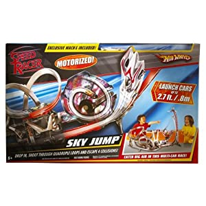 Hot Wheels Speed Racer Sky Jump Track Set