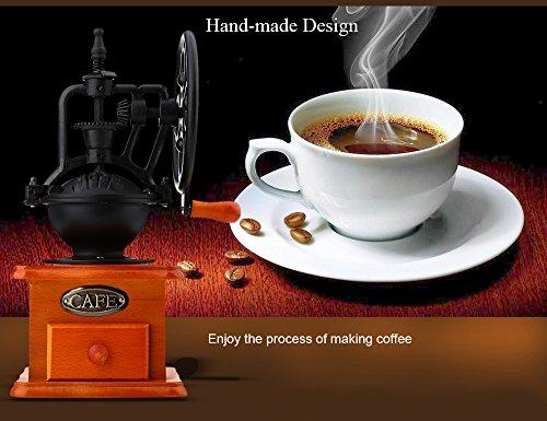 YOOYOO Retro Style Burr Coffee Grinder Hand Grinding Machine Hand-crank Roller (TAN) 1