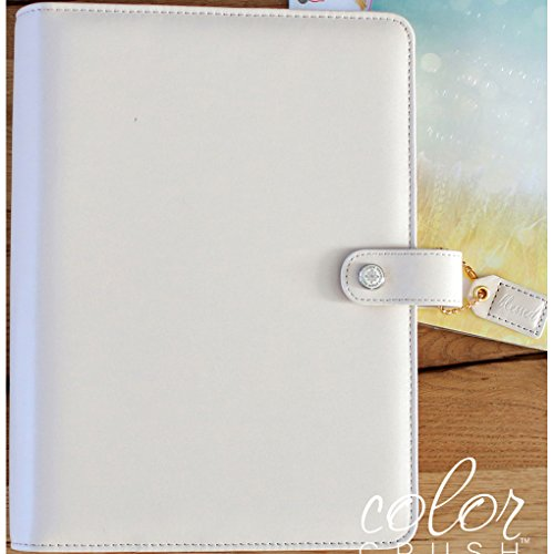 Color Crush A5 Faux Leather 6-Ring Planner Binder 7.5x10-Natural (Natural Binder compare prices)