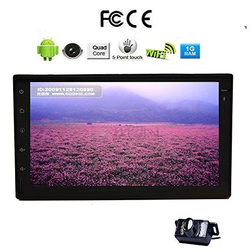 Sistema universale Android 4.4 sistema 2 DIN funzione dell'automobile da 7 pollici schermo HD stereo / radio Bluetooth, controllo del volante di GPS con la macchina fotografica libero da eincar