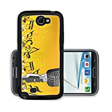 buy Liili Premium Samsung Galaxy Note 2 Aluminum Snap Case A Microphone With Music Notes And Floral Design Editable Colors Photo 2341124