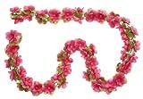 Blumengirlande-fuchsia-ca-130-cm-zum-verschnern-Ihres-Fahrrades-zB-fr-Fahrradkorb-Lenker-oder-Ihrer-Wohnung