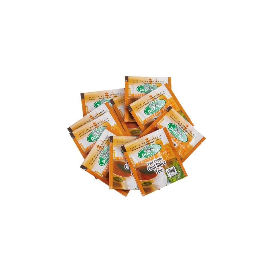 Dils Royal Tea, Chai Spice Tea, 1000 Count Tea Bags On