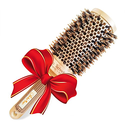 Boar Bristle Round Hair Brush (1.7 inch) for Blow-Dry - Professional Salon Quality Hair Styling Tool for Silky, Shiny, Smooth & Bouncy Blowouts (Boar Hair Brush Women compare prices)