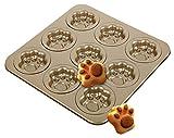 C-Princess マフィン型 ケーキ型 焼型 プレート 9個取り 手作りお菓子 製菓ツール 猫の爪型 かわいい キッチン用品 (28*28*1.5cm)