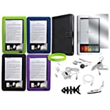 CrazyOnDigital 15-item Leather Case Accesory Kit for Barnes and Noble Nook eBook Reader ~ CrazyOnDigital