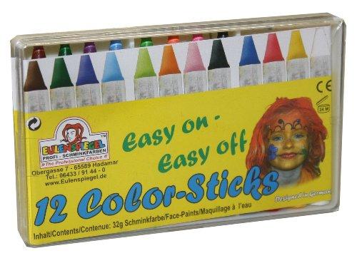 Eulenspiegel 626122 - Schminkstifte, 12er