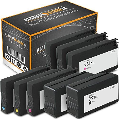 ATP 8er-Set Kompatible Tintenpatronen Druckerpatronen Ersatz für Hp 950 XL + HP 951 XL (Black , Blau , Magenta , Gelb) HomeSerie