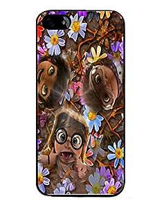 Printvisa 2D Printed Funny Faces Designer back case cover for Apple I Phone 5G / 5S - D4284