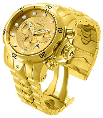 Invicta Men's 14503 Venom Analog Display Swiss Quartz Gold Watch