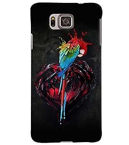 PrintVisa Modern Art Parrot Colorful 3D Hard Polycarbonate Designer Back Case Cover for Samsung Galaxy Alpha