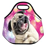 Funny Dog Soft Insulated Lunch box Food Bag Neoprene Gourmet Handbag lunchbox Cooler warm Pouch Tote bag For School work