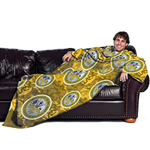 US Military, Army 48-Inch-by-71-Inch Adult Comfy Throw with Sleeves by The Northwest Company