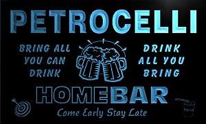 q34802-b PETROCELLI Family Name Home Bar Beer Mug Cheers Neon Light Sign