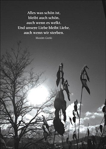 Beileidswunsche Fur Karten: Bewegende Trauerkarte Mit Zitat Als Beileidsspruch