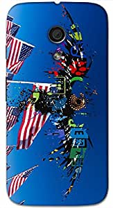 Timpax protective Armor Hard Bumper Back Case Cover. Multicolor printed on 3 Dimensional case with latest & finest graphic design art. Compatible with Motorola Moto -G-2 (2nd Gen )Design No : TDZ-26889