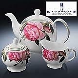 Irish Newbridge Rose 3 Piece Tea Set - Delivery from Ireland within 6-9 Days