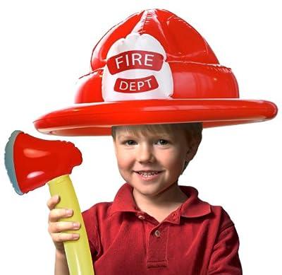 Spielzeug Set Aufblasbar Feuerwehrmann Fireman Kind Mit Hut U Axt Kinderkostm bei aufblasbar.de