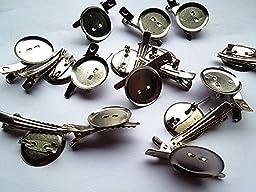 20PCS Imitation Rhodium Iron Brooch with Hairpin diy Accessories