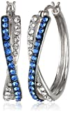 Sterling Silver Blue and White Swarov…