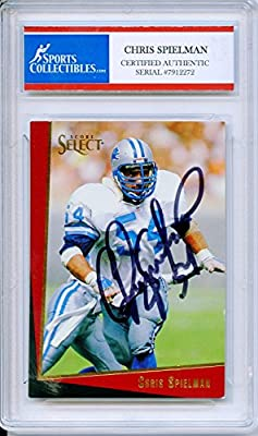 Chris Spielman Autographed Detroit Lions Encapsulated Trading Card - Certified Authentic