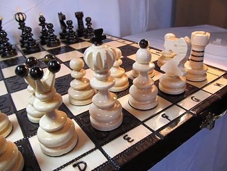 ChessEbook Jeu d'échecs en bois avec mallette PEARL LARGE 42 cm