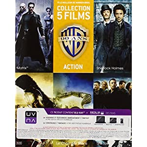 90 ans Warner - Coffret 5 films - Action + 1 magnet collector « Matrix » offert [Blu-ray] [Éditio