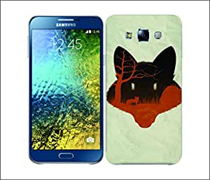 Galaxy Printed 2452 Nature Of Animal Fox Hard Cover for Samsung E7