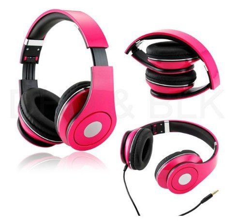 3.5Mm Headphone Earphone Earbuds Headset Stereo Iphone Ipod Mp3 Mp4 Pc Tablet (Pink)