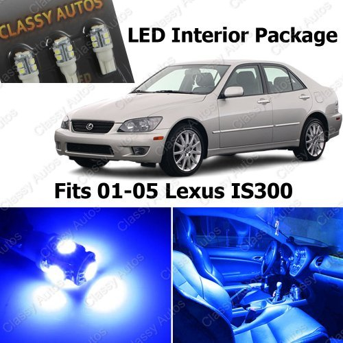 Classy Autos Lexus Is300 Blue Interior Led Package (6 Pieces)