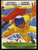 img - for Football Game Program Cleveland Browns vs San Francisco 49ers 1956 Kezar Stadium book / textbook / text book