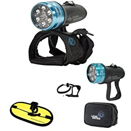 Light & Motion Sola Dive 1200 LED Light with Pistol Grip and Float Strap
