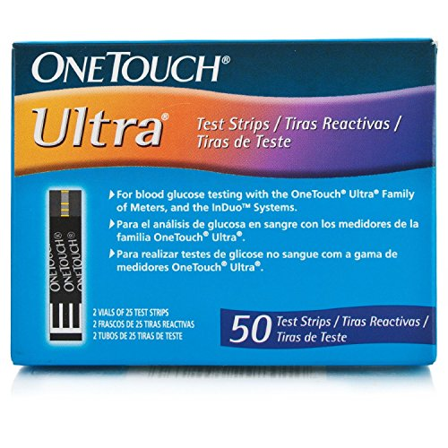 One Touch Ultra Test Strips  50 CT Int 3 Language:English, Spanish, Portuguese (One Touch Ultra Blue Test Strips compare prices)