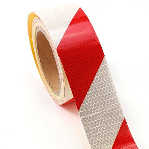 10m-x-5cm-ruban-autocollant-bande-rflchissant-lumire-rouge-blanc