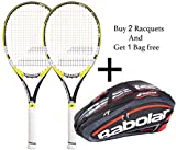 Babolat Drive Z lite Racquet & Babolat Team Line Racquet Holder X 12 (Black/Flou/Red) -Combo