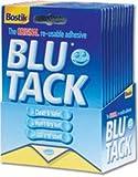New Bostik Blu-tack Mastic Adhesive Non-toxic Handy Pack Ref 801103 [Pack 12]