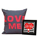 Love Cushion with Counter Top Gift for Valentine GIFTS110398 Romantic Valentine Gift,Valentine Gift for Him,Valentine Gift for Her,Valentine Gift for Boyfriend,Valentine Gift for Girlfriend,Valentine Gift for Husband,Valentine Gift for Wife